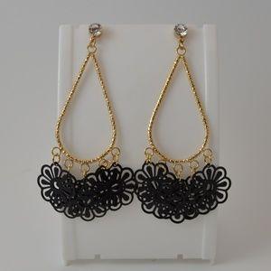 Dangle Flower Charm Earrings